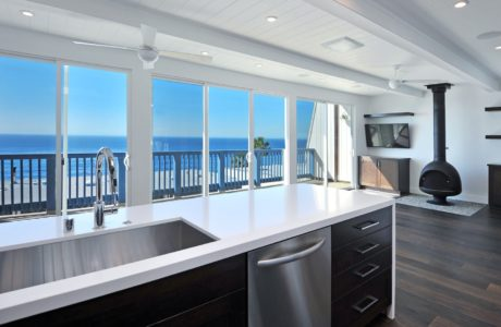 Modernized beach house kitchen remodel in Malibu by JRP Design and Remodel